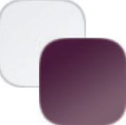 biela/fialový lesk