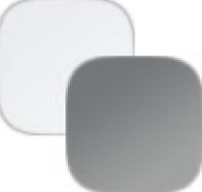 biela/šedý lesk