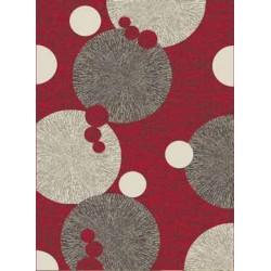 Červený koberec s kruhmi
