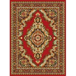 Červený ornamentálny koberec