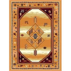 Béžový ornamentálny koberec