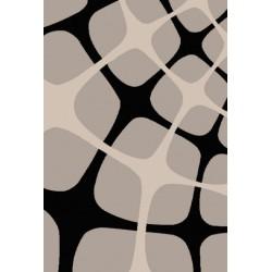 Sivo-čierny koberec