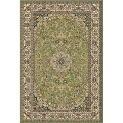Zelený orientálny koberec