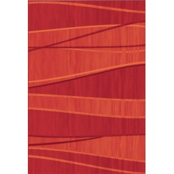 Červený pásikavý koberec