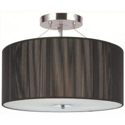 Stropná lampa s čiernym tienidlom