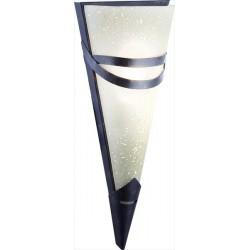 Nástenná lampa s hrdzavým odtieňom