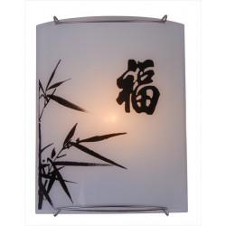 Lampa so zaujímavým motívom na tienidle