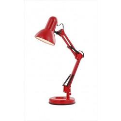 Červená lampa na pracovné stoly
