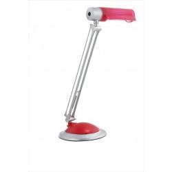 Červená lampa na pracovný stôl