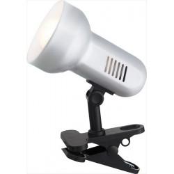 Bielo-čierna malá lampa so štipcom