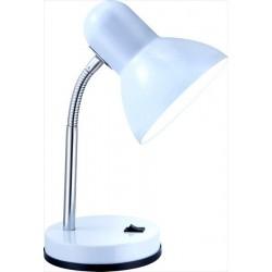 Jednoduchá biela lampa z plastu