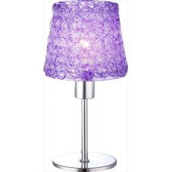 Fialová lampa na stôl moderného dizajnu