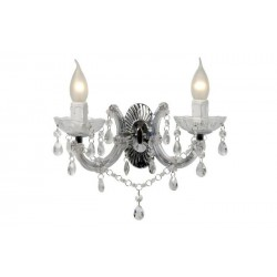 Dvojité sklenené kryštálové nástenné svietidlo