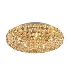 Zlaté okrúhle svietidlo na strop