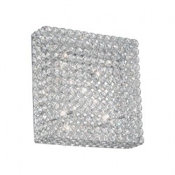 Nástenné svetlo z kryštálikov 39x39 cm