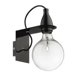 Čierne nástenné svietidlo MINIMAL
