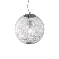Guľaté svietidlo s hliníkovou dekoraciou