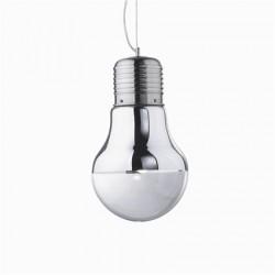 Chrómové visiace svietidlo - žiarovka