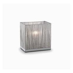Strieborné malé stolové svetlo