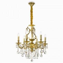 Zlatý rustikálny luster