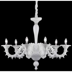 Biely rustikálny luster