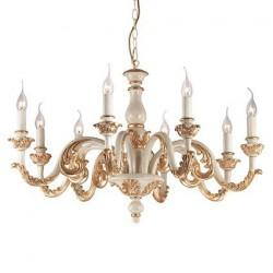 Zlatý rustikálny široký luster