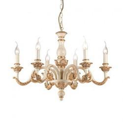 Menší zlatý rustikálny luster