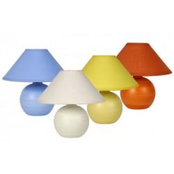 Biela stolová lampa - skladom